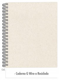 Caderno Grande Reciclado