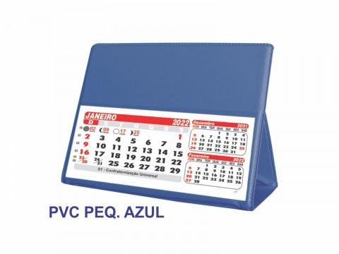 Calendário de Mesa 2022 PVC pequeno Azul