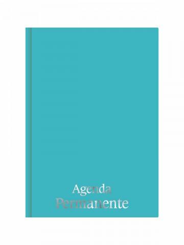 Agenda Permanente Costurada Azul Tiffany