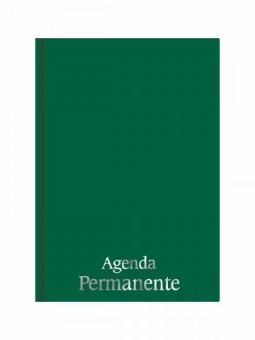 Agenda Permanente Costurada Verde Escuro