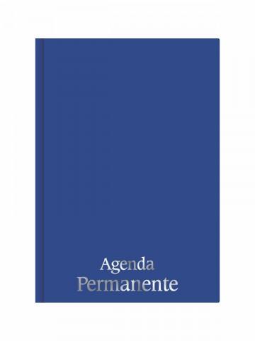 Agenda Permanente Costurada Azul Marinho